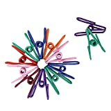 Shintop Multi-purpose Colorful Metal Clips Outdoor Clothespin Multi-purpose Clothesline Utility Clips for Home, Office (30 pcs, Assorted Colors)