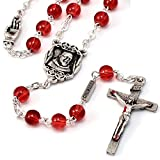 St. Pio of Pietrelcina Rosary in silver plated finish made in Italy exclusively by Ghirelli – 14942