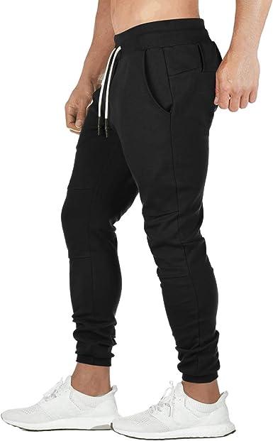 Mens Tracksuit Bottoms Skinny Jogging Pants Joggers Sweatpants Sport Gym Trouser