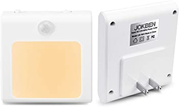 2-Pack Jokben Plug-in Motion Sensor Night Light