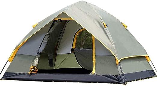 Tienda De CampañA AutomáTica Al Aire Libre 3-4 Personas Dos Habitaciones Y Una Sala Tienda De CampañA para Acampar A Prueba De Lluvia Doble (2 TamañOs Opcional): Amazon.es: Hogar