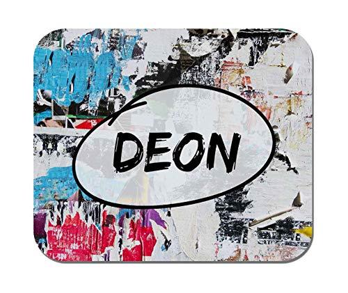 Makoroni - Deon Name - Non-Slip Rubber Mousepad, Gaming Office Mousepad
