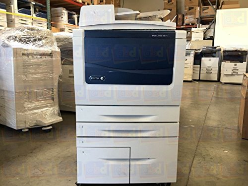 Refurbished Xerox WorkCentre 5875 Tabloid-size Black-and-white Multifunction Printer - 75 ppm, Copy, Print, Scan, Single-pass Auto-Duplex Document Feeder, Two Trays, High Capacity Tandem Tray (Single Feeder Pass)