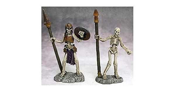 1 x launcher skeleton bones reaper figurine miniature rpg rpg d/&d skeleton spear