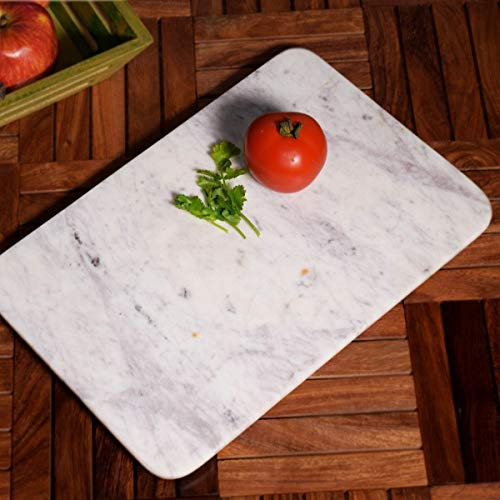 Hashcart Beautiful Marble Chopping, Chopper, Cutting Board   For Bread, Fruits,Vegetables Meat and Cheese Serving Tray