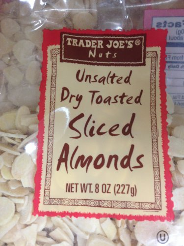 Trader Joe's Unsalted, Dry Toasted Sliced Almonds (Almond Toasted)