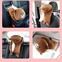Vorra Fashione Car Tissue Box 3D Cartoon Sun Visor Paper Napkin Holder Container Auto Seat Armrest