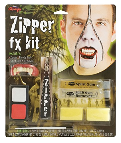 Vampire Zipper FX Kit costume Kids Fancy Dress (Zipper Fx Kit Halloween)