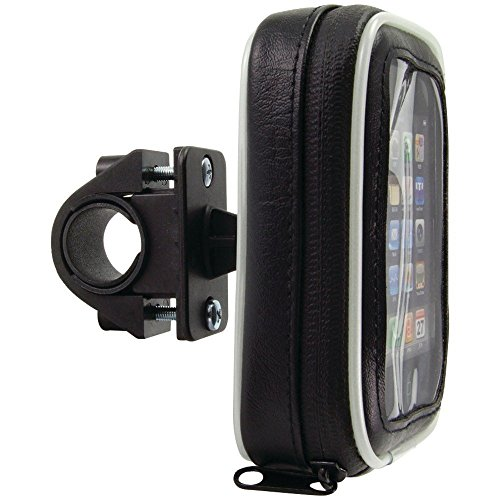 Arkon SM032 Bicycle and Motorcycle Handlebar Mount With Water-Resistant Case For - Mount Arkon Free