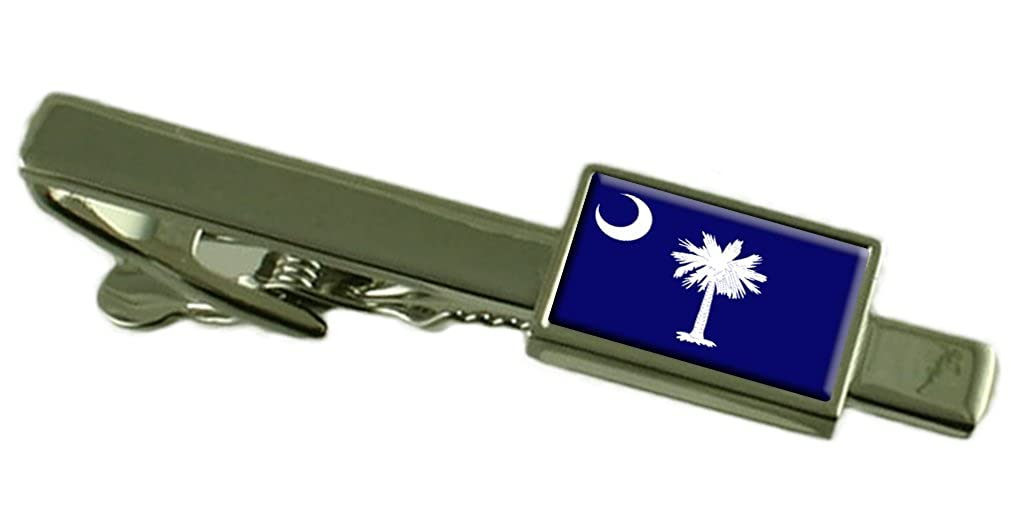 Keepsake Engraved Personalized Case South Carolina Flag Tie Clip Bar 55mm