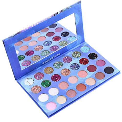 28 Color Eyeshadow Palette Blue Starry Sky Shimmer Glitter E