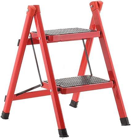 CHOME Taburete Plegable para escaleras con peldaños Antideslizantes Sillas Plegables pequeñas de Cocina para Adultos y niños Escalera portátil,B: Amazon.es: Hogar