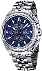 Festina F16881-2 Mens 2015 Chrono Bike Tour De France Silver Watch