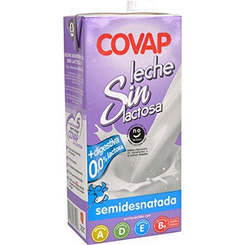Leche Semidesnatada Sin Lactosa Covap Brick 1 Litro: Amazon.es: Alimentación y bebidas