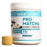 Vibrant Health - Pro Matcha, Whole Food Protein Supplement, Vanilla, 15 Servings