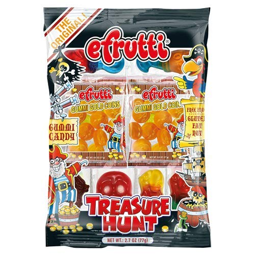 efrutti Gummi Pirate Treasure Hunt Halloween Candy Theme Bag 2.7 oz -