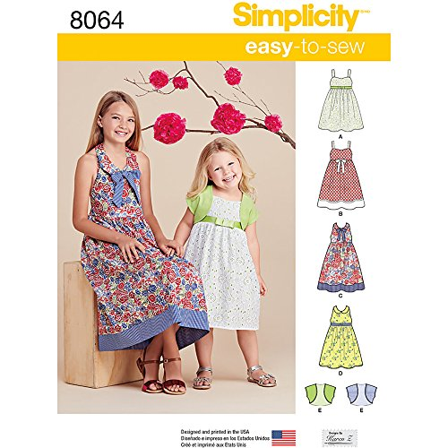 Simplicity Patterns Child's and Girls' Dresses and Bolero Size: K5 (7-8-10-12-14), ()
