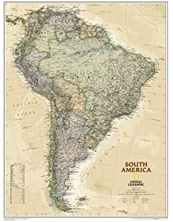 National geographic europe executive wall map 305 x 2375 inches national geographic south america executive wall map 235 x 3025 inches national gumiabroncs Gallery