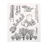 Whitelotous Clear Stamp DIY Scrapbooking Album Paper Craft Cards Making Decoration Gift (Christmas Wishes)