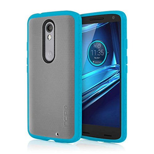 Incipio Cell Phone Case for Motorola Droid Turbo 2 - Retail Packaging - Frost/Cyan