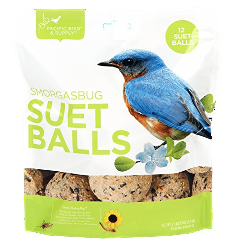 Pacific Bird & Supply Co Smorgasbug Suet Balls (12 - Balls Wild Bird Fat