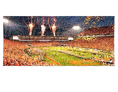 Death Valley at Night Painting Effect Beach and Bath Towel - Gift Idea for Husband Boyfriend Son College Football Fan for Summer Fun by Personalized Corner (Image #2)