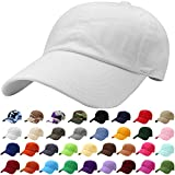 #2: Falari Classic Baseball Cap Dad Hat 100% Cotton Soft Adjustable Size
