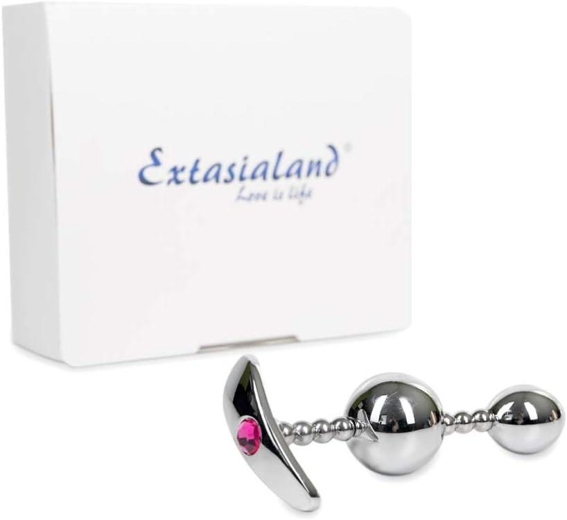 Extasialand - Dilatador anal flexible con dos bolas anales y ...