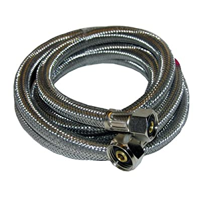 LASCO 10-0373 Braided Stainless Steel Supply Line with 1/2-Inch Compression and 1/2-Inch Female Iron Pipe