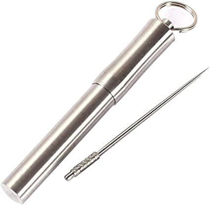 1 Set Toothpick Tube Holder with Toothpick Health Outdoor Sports Mini Key Ring
