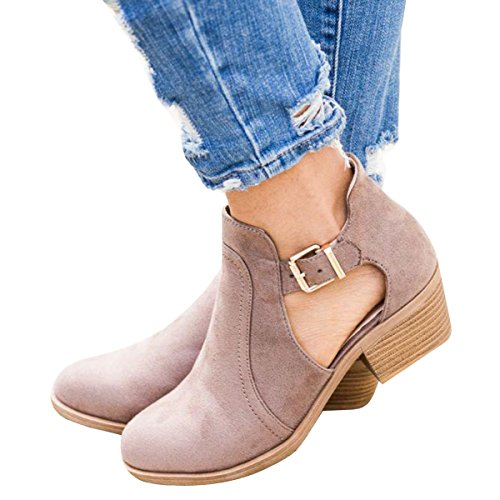 Leather Street Legal (Womens Wedge Leather Pointy Toe Gladiator Platform Chunky Heel Sandal Ankle Buckle Booties)