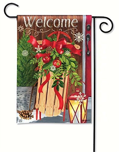 Mountain Sled (Magnet Works MAIL31254 Mountain Cabin Sled Garden Flag)