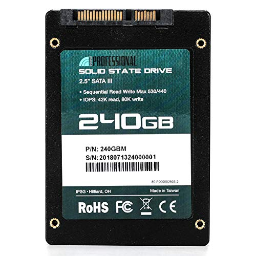 """Inland Professional 240GB SSD 3D NAND 6Gb/s 2.5"""" Solid"""