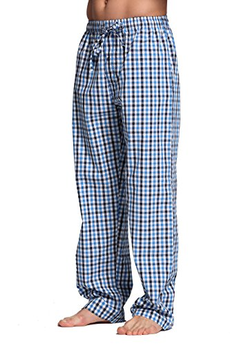 CYZ Men's 100% Cotton Poplin Pajama Lounge Sleep Pant-F1709-L by CYZ Collection