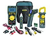 General Tools KT600 Industrial Troubleshooting Kit, Includes Multimeter, Clamp Meter, NCV Detector and IR Thermometer