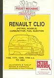 Pocket Mechanic for Renault Clio All Petrol Models to 1993 (Except 16V Engine)