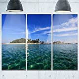Designart MT9900-3P Lengkuas Island Indonesia Seashore Metal Wall Art (3 Piece), 36x28''