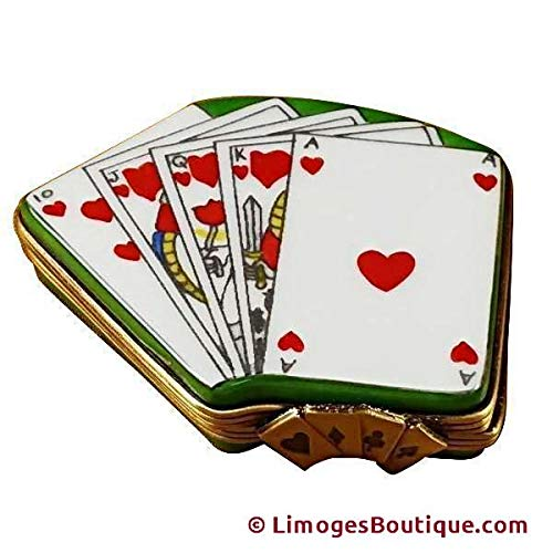 Deck of Cards - French Limoges Boxes - Porcelain Figurines Collectible Gifts