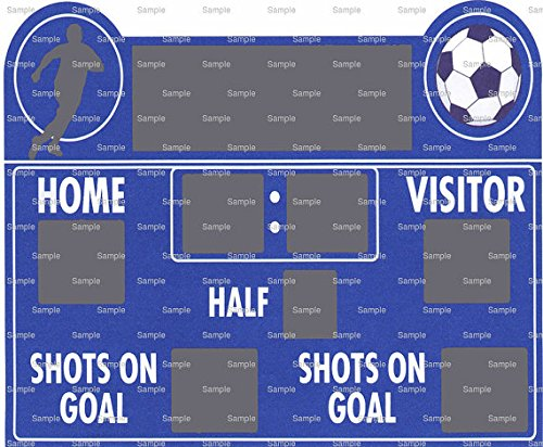 1/2 Sheet - Soccer Scoreboard Birthday - Edible Cake/Cupcake Party Topper by Art of Eric Gunty