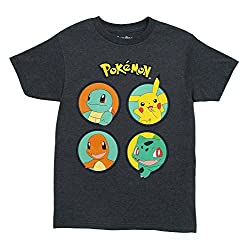 Pokemon No KIngs T-shirt (Large, Heather Chacoal)
