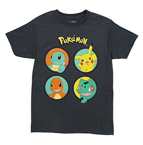 Pokemon No Kings T-Shirt (X-Large, Heather Charcoal) ()