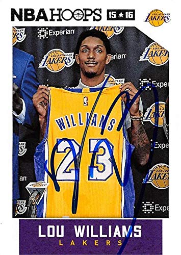 competitive price 11a36 40f1d Amazon.com: Lou Williams autographed Basketball Card (Los ...