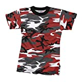 Rothco Kids T-Shirt, Red Camo, X-Large