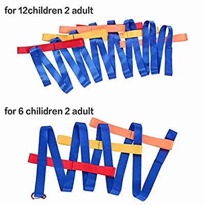 TecUnite 2 Pieces Walking Rope Safety Walking Cord 12 Handles and 6 Handles with Buckle for Preschool Children Toddlers Daycare Schools Teachers