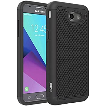 For Samsung Galaxy J3 Emerge / J3 Prime / J3 2017 / Sol 2 / Amp Prime 2 / Express Prime 2 Case, OEAGO [Shockproof] Hybrid Dual Layer Defender ...