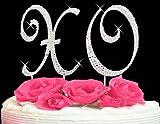 Swarovski Crystal XO Hugs & Kisses Cake Top Set Cake Topper