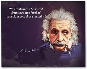 """Albert Einstein Quotes Wall Art, 8""""x10"""" Unframed Art Print - Stunning Einstein Wall Decor"""