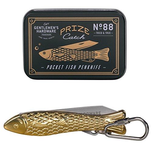 Gentlemen's Hardware Fish Pocket Penknife, Brass (Fish Gift Baskets)