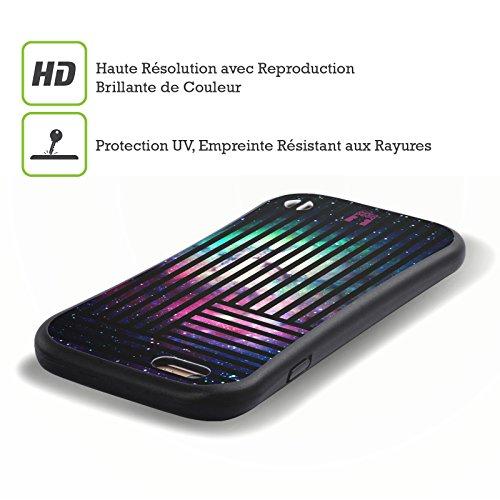 Head Case Designs Nebula Stripes Trend Mix Hybrid Gel Back Case for Apple iPhone 5 5s