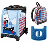 ZUCA Kids039; Mini Pirate Bag/Black Frame + Backpack and Seat Cushion